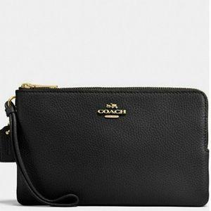 COACH Large Double Zipper Wallet Wristlet